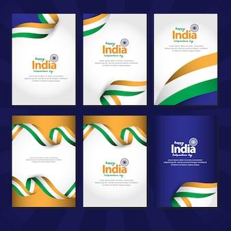 Feliz día de la independencia de india y celebraciones del día de la república