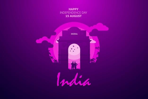 Feliz día de la independencia de la india de fondo