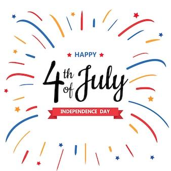 Feliz día de la independencia o el 4 de julio.
