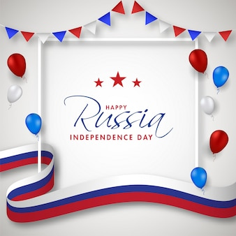 Feliz día de la independencia de rusia concepto.