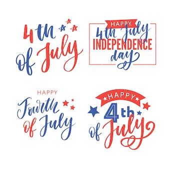 Feliz día de la independencia tarjeta de felicitación con fuente. ilustración.