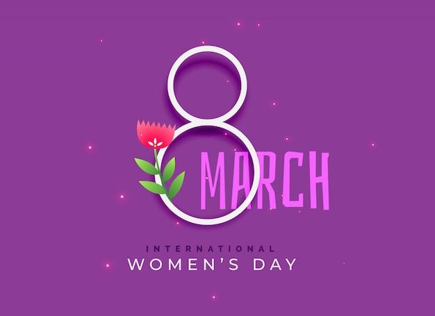Feliz día internacional de la mujer de fondo