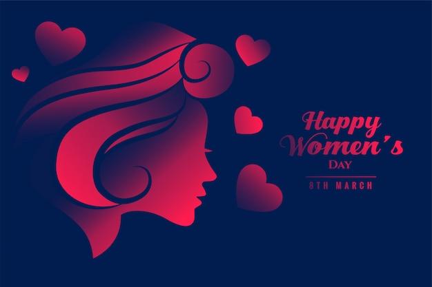 Feliz día internacional de la mujer hermosa pancarta