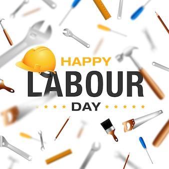 Feliz día internacional del trabajo 1 de mayo celebración del día de los trabajadores