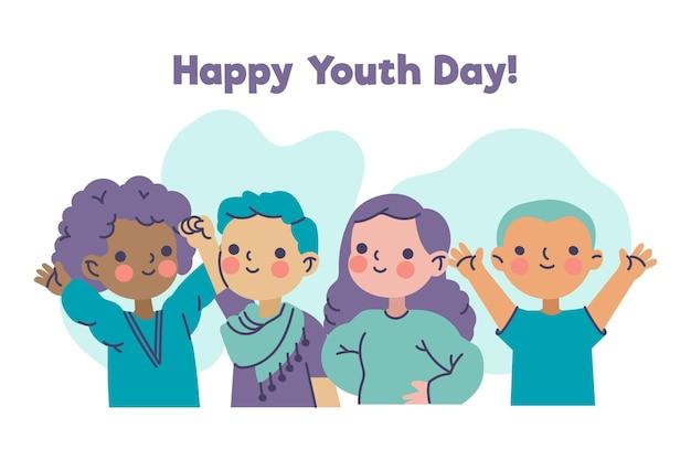 Feliz día de la juventud con jóvenes