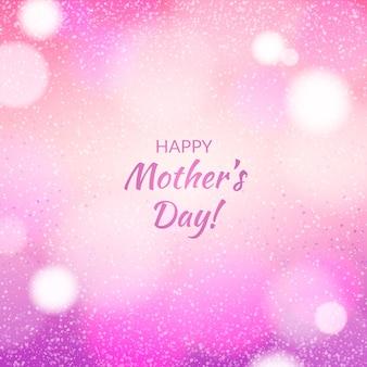 Feliz día de la madre borrosa diseño