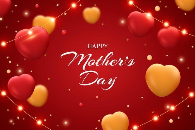 Feliz dia de la madre con corazones