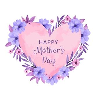 Feliz día de la madre diseño de acuarela