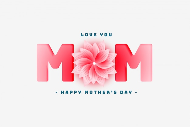 Feliz día de la madre encantador saludo diseño
