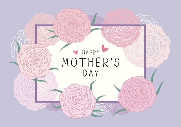 Feliz día de la madre de fondo