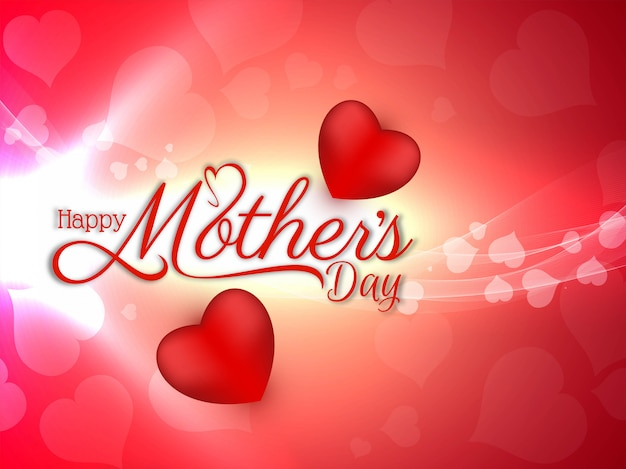 Feliz día de la madre hermoso brillante