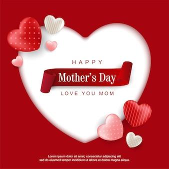 Feliz día de la madre sobre fondo de amor