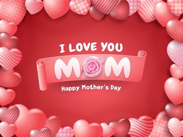 Feliz dia de la madre tarjeta de felicitación editable