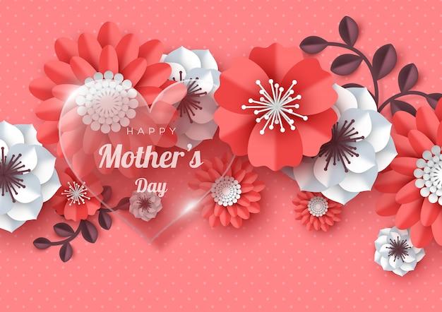 Feliz día de la madre tarjeta de felicitación.