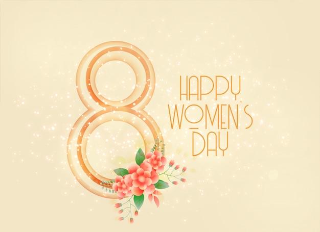 Feliz día de la mujer 8 de marzo de fondo