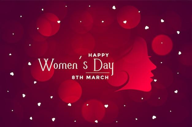Feliz día de la mujer hermoso bokeh banner