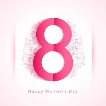 Feliz día de la mujer saludo decorativo desea fondo