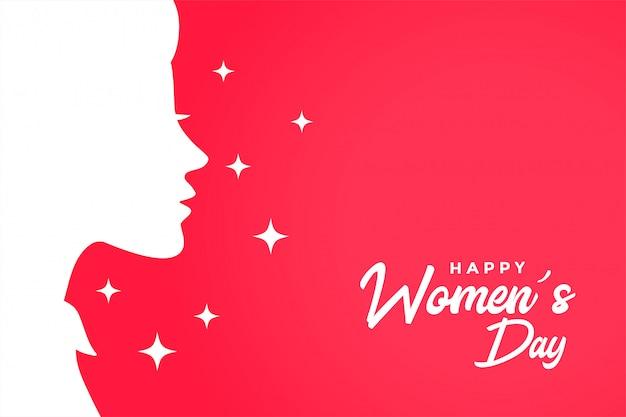 Feliz día de la mujer tarjeta de felicitación elegante fondo
