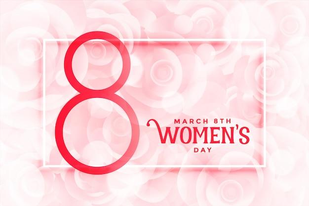 Feliz día de las mujeres hermosas flores de color rosa de fondo