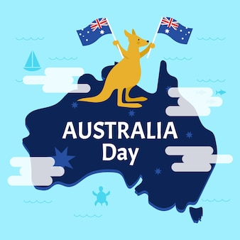 Feliz día nacional australiano