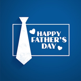 Feliz día del padre azul estilo plano