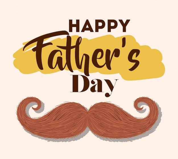 Feliz día del padre y bigote