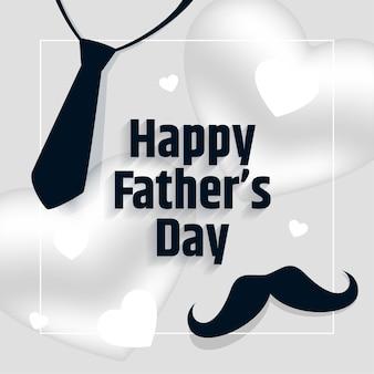 Feliz día del padre bonita tarjeta de felicitación plana