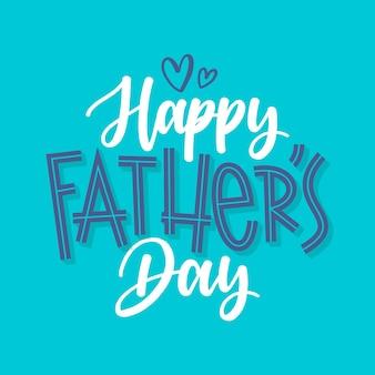 Feliz dia del padre con corazones