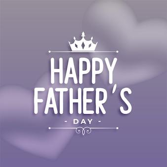 Feliz día del padre desea diseño de saludo