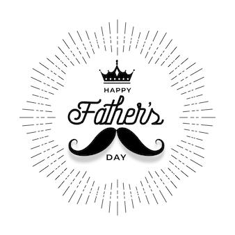 Feliz día del padre desea diseño de tarjeta de felicitación