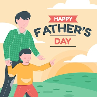 Feliz dia del padre ilustracion