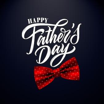 Feliz día del padre letras manuscritas, tarjeta de felicitación