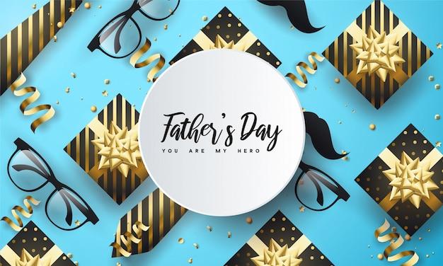 Feliz día del padre con marco circular