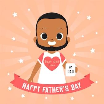 Feliz día del padre con el mejor padre de todos