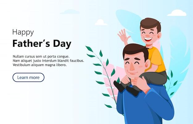 Feliz día del padre saludo banner