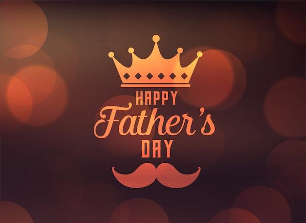 Feliz día de padre saludo con corona