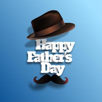 Feliz día del padre con sombrero realista