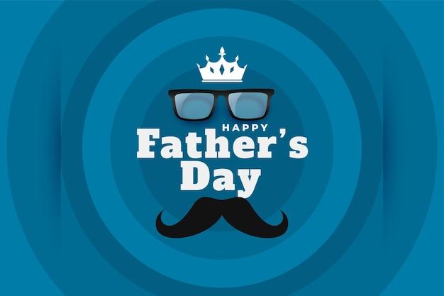 Feliz día del padre tarjeta de felicitación de estilo minimalista