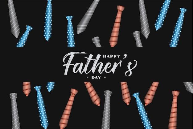 Feliz día del padre tarjeta de felicitación de patrón de corbata