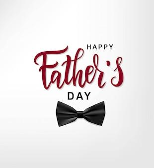Feliz día del padre texto de letras a mano.