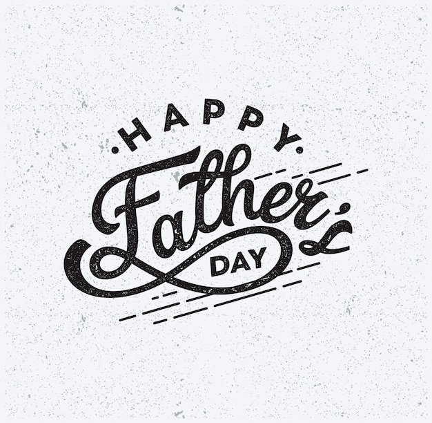 Feliz día del padre texto tipografía vintage vector