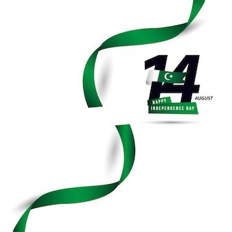 Feliz día del pakistán independiente vector plantilla de diseño