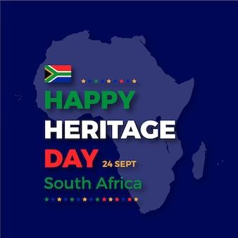 Feliz día del patrimonio con el mapa de áfrica