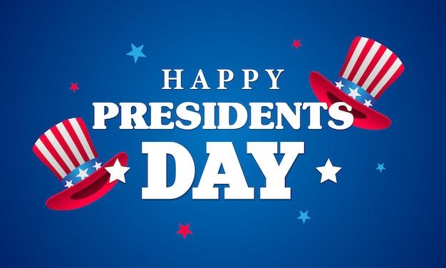Feliz día de los presidentes tarjeta de felicitación del vector