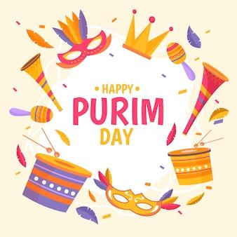 Feliz día de purim evento
