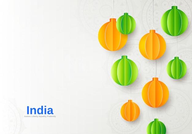 Feliz día de la república bandera india