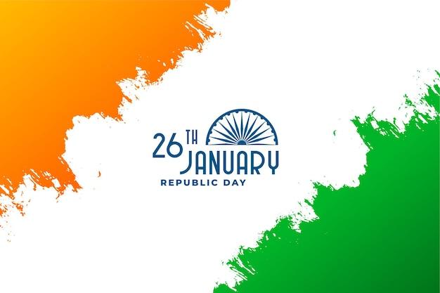 Feliz día de la república de la india 26 de enero diseño