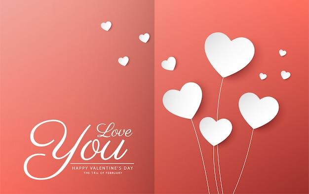 Feliz día de san valentín banner vector diseño