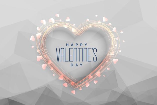 Feliz día de san valentín celebración fondo de felicitación