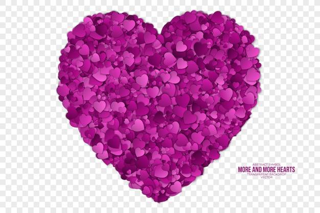 Feliz día de san valentín corazón símbolo abstracto telón de fondo